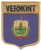 3252 - VERMONT large flag shield uniform or souvenir embroidered patch