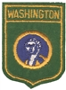 3351 - WASHINGTON small flag shield souvenir embroidered patch
