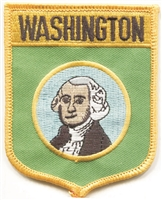 3352 - WASHINGTON large flag shield uniform or souvenir embroidered patch