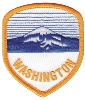 WASHINGTON mountain shield souvenir embroidered patch