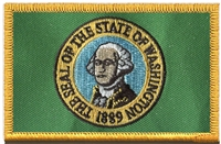 3354 - WASHINGTON state flag uniform or souvenir embroidered patch