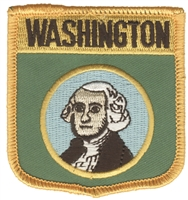 3355 - WASHINGTON medium flag shield souveniror uniform embroidered patch