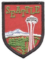 SEATTLE space needle embroidered souvenir patch.