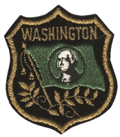 3362 - WASHINGTON mylar flag shield souvenir embroidered patch
