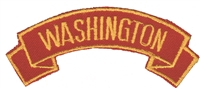 3370 - WASHINGTON shoulder tab souvenir embroidered patch