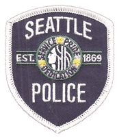 SEATTLE POLICE souvenir embroidered patch.