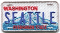 SEATTLE WASHINGTON license plate souvenir embroidered patch