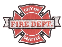SEATTLE FIRE DEPT. souvenir embroidered patch.