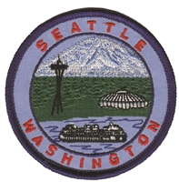 SEATTLE WASHINGTON  ferry, mtn, needle souvenir embroidered patch