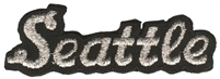 Seattle script souvenir embroidered patch