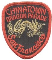 San Francisco CHINATOWN DRAGON PARADE souvenir embroidered patch