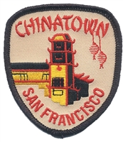 4008 - SAN FRANCISCO CHINATOWN tower souvenir embroidered patch
