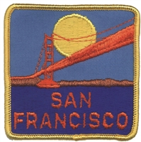 4009 - SAN FRANCISCO souvenir embroidered patch