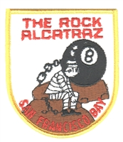 "4014 - THE ROCK, SAN FRANCISCO BAY souvenir patch. 2.875"" wide x 3.375"" tall - Patches are carded for rack display for retail stores."