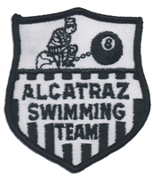 4019 - ALCATRAZ SWIMMING TEAM souvenir embroidered patch