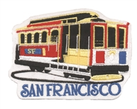 SAN FRANCISCO cable car turning souvenir embroidered patch