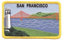 4028 - SAN FRANCISCO Coit Tower souvenir embroidered patch