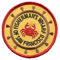 4049 - SAN FRANCISCO FISHERMAN'S WHARF souvenir embroidered patch