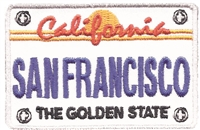 4058 - SAN FRANCISCO license plate souvenir embroidered patch