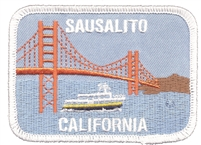 SAUSALITO Golden Gate Bridge embroidered patch