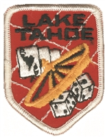 4244 - LAKE TAHOE roulette - souvenir embroidered patch