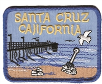 SANTA CRUZ pier souvenir embroidered patch.