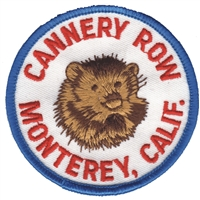 4451 - MONTEREY - CANNERY ROW sea otter souvenir embroidered patch