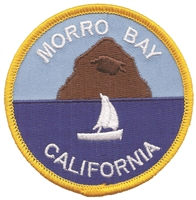 4552 - MORRO BAY rock souvenir embroidered patch