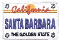 4561 - SANTA BARBARA license plate embroidered patch
