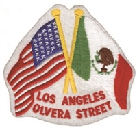 4605 - LOS ANGELES - OLVERA STREET souvenir embroidered patch