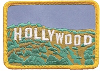 4651 - HOLLYWOOD sign picture souvenir embroidered patch