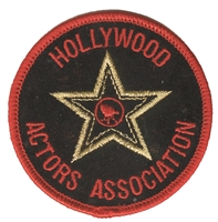 HOLLYWOOD ACTORS ASSOCIATION souvenir embroidered patch