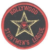HOLLYWOOD STUNTMEN'S LEAGUE souvenir embroidered patch