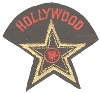 HOLLYWOOD star souvenir embroidered patch