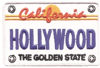 HOLLYWOOD license plate souvenir embroidered patch