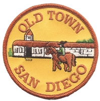 SAN DIEGO - OLD TOWN souvenir embroidered patch