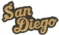 4702-21M/01 - San Diego script - embroidered souvenir embroidered patch