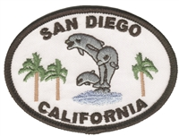 SAN DIEGO CALIFORNIA dolphins souvenir embroidered patch
