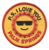 P.S. I LOVE YOU PALM SPRINGS souvenir embroidered patch