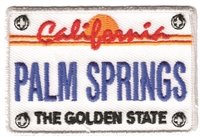 PALM SPRINGS California license plate souvenir embroidered patch