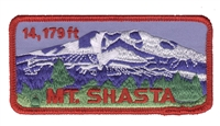 4811 - MT. SHASTA 14,179 FT  souvenir embroidered patch