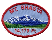 4812 - MT. SHASTA 14,179 Ft. oval; souvenir embroidered patch