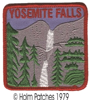 YOSEMITE FALLS souvenir embroidered patch