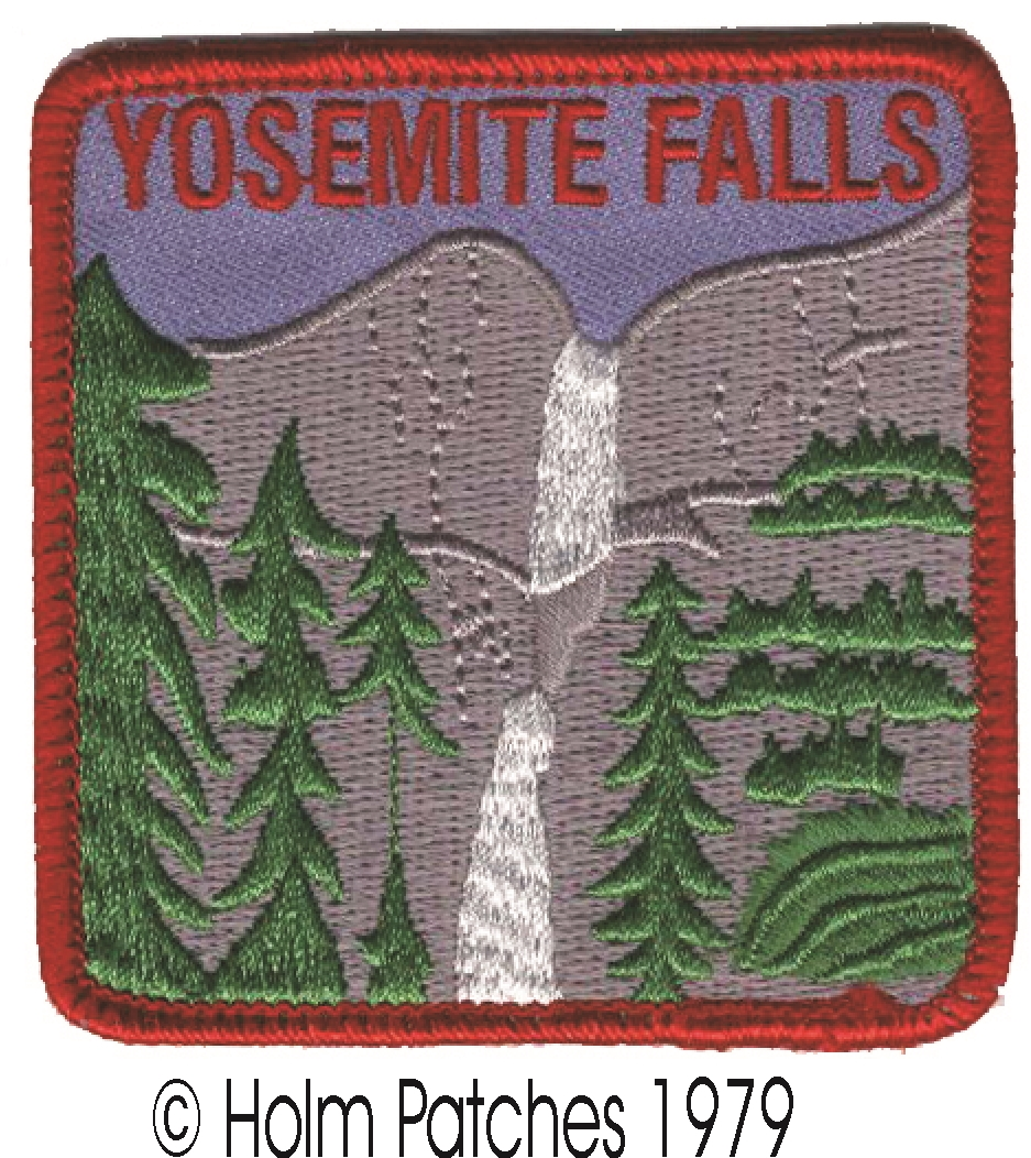 California Bear and Poppies Yosemite National Park Patch Iron on