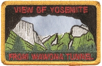 VIEW OF YOSEMITE FROM WAWONA TUNNEL souvenir patch