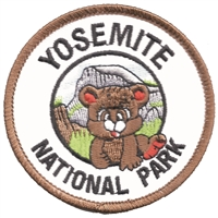 YOSEMITE NATIONAL PARK bear cub souvenir embroidered patch.