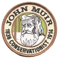 JOHN MUIR CONSERVATIONIST embroidered patch.