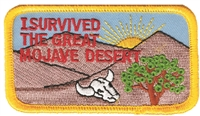 I SURVIVED THE GREAT MOJAVE DESERT -  joshua tree souvenir embroidered patch