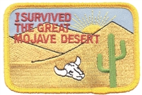4852 - I SURVIVED THE GREAT MOJAVE DESERT cactus souvenir embroidered patch