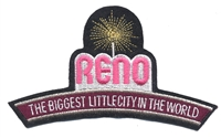 RENO - THE BIGGEST LITTLE CITY IN THE WORLD souvenir embroidered patch